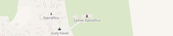 Karte Zamek Ratměřice Ratměřice