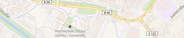 Karte Hochschule Zittau/Görlitz Zittau