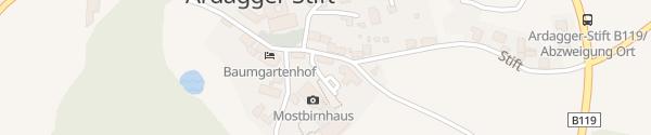 Karte Mostbirnhaus Ardagger Stift