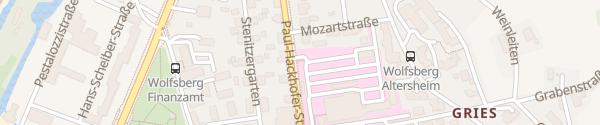 Karte Landeskrankenhaus Mitarbeiterparkplatz Wolfsberg