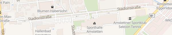 Karte Johann Pölz-Halle Amstetten