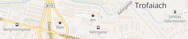 Karte Einkaufszentrum Trofaiach