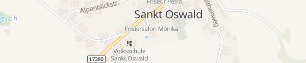 Karte Hotel des Glücks - Landhotel Fischl Sankt Oswald