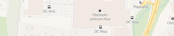 Karte OC Nisa I. Liberec