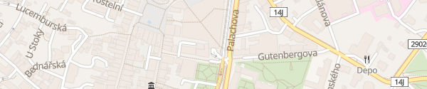Karte OC Plaza Liberec