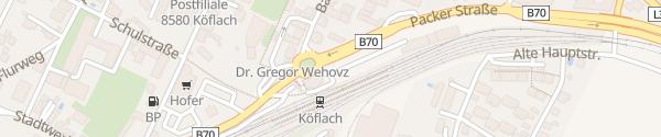 Karte P+R Bahnhof Köflach