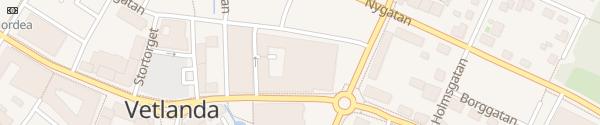 Karte Kyrkogatan Vetlanda