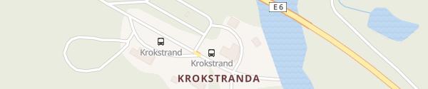 Karte Krokstrand Café og Overnatting Storforshei
