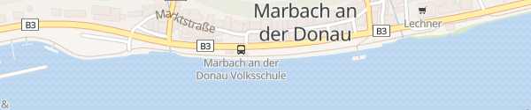 Karte Schiffsanlegestelle Marbach an der Donau