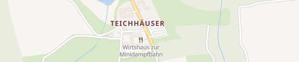 Karte Wirtshaus zur Minidampfbahn Zwettl