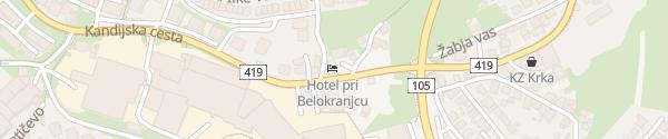 Karte Hotel pri Belokranjcu Novo mesto