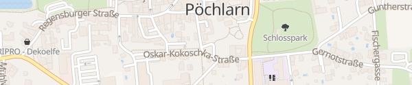 Karte Parkplatz Ortszentrum Pöchlarn