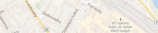 Karte Busterminal Kolín