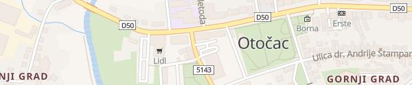 Karte Rathaus Otocac