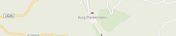 Karte Burg Plankenstein Texingtal
