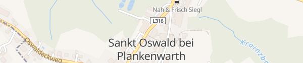 Karte Gemeindeamt St. Oswald bei Plankenwarth