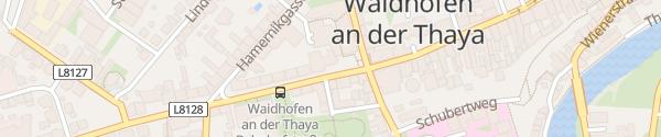 Karte Raiffeisenbank Waidhofen an der Thaya