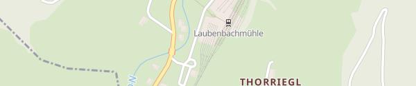 Karte Bhf Laubenbachmühle - Frankenfels Laubenbachgegend
