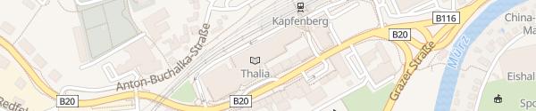 Karte ece Einkaufs-Centrum Kapfenberg