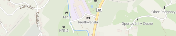 Karte Obec Desná