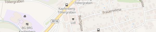 Karte Lidl Kapfenberg
