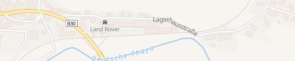Karte Ehemaliger Bahnhof Dobersberg