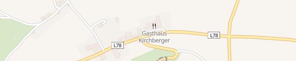 Karte Gasthaus Kirchberger Kegelbahnen Großheinrichschlag