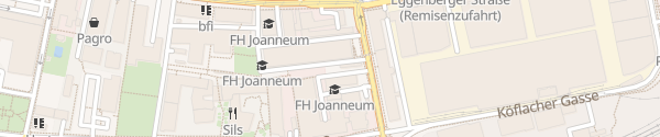 Karte FH Joanneum Graz