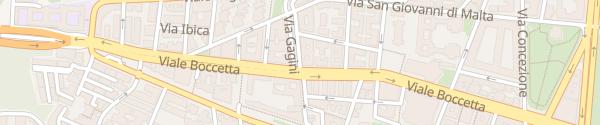 Karte Via Gagini Messina