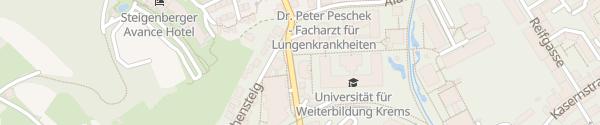 Karte Donau-Universität Krems an der Donau