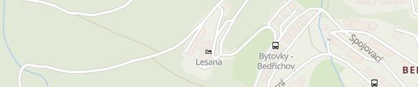 Karte Hotel Lesana Špindlerův Mlýn