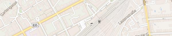 Karte Bahnhofsplatz Krems an der Donau