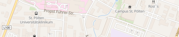 Karte Parkhaus Mühlweg St. Pölten