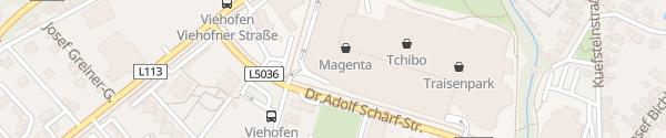 Karte E-Bike Ladesäule Traisenpark St. Pölten