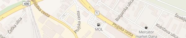 Karte MOL Ptujska cesta Maribor