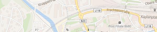 Karte Parkplatz Mürzzuschlag