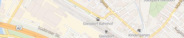 Karte P+R Parkplatz Bahnhof Gleisdorf
