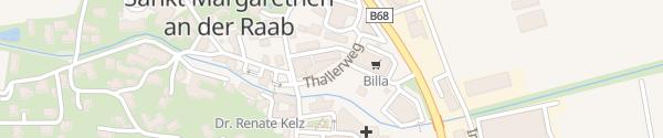 Karte Hügellandhalle St. Margarethen an der Raab