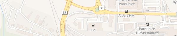 Karte Lidl Pardubice