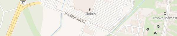 Karte OC Globus Pardubice
