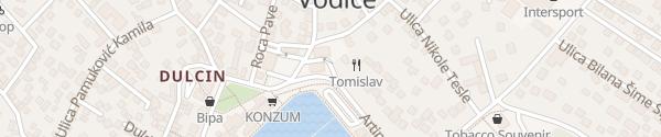 Karte Hafen Vodice