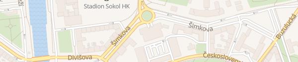 Karte Parkovací dům Jana Gayera Hradec Králové