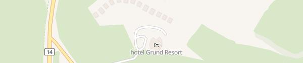 Karte Grund Resort Golf & Ski Mladé Buky