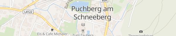 Karte Parkplatz Musikpavillon Puchberg am Schneeberg