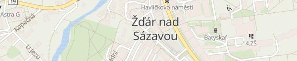 Karte Stará Radnice Žďár nad Sázavou