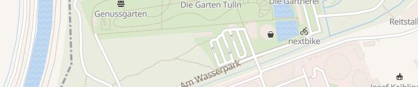 """Karte Schaugartenausstellung """"Die Garten Tulln"""" Tulln"""
