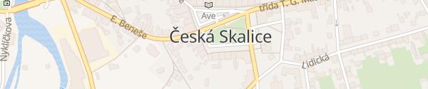 Karte Husovo náměstí Česká Skalice