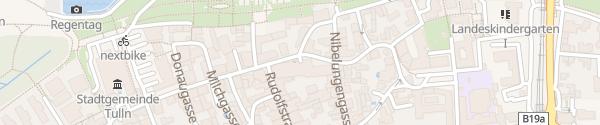 Karte Parkhaus Albrechtsgasse Tulln