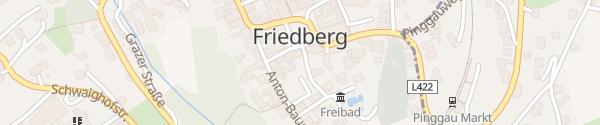 Karte Ortszentrum Friedberg