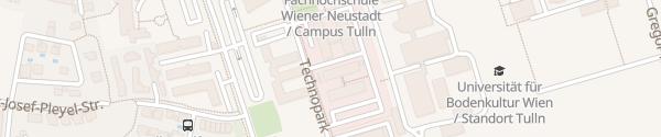 Karte Technologie und Forschungszentrum Tulln